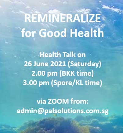 REMINERALIZE for Good Health